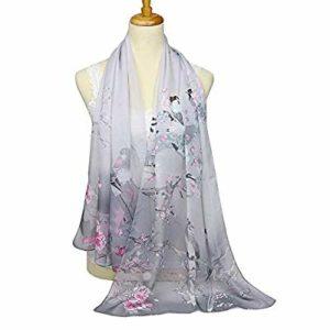 chiffon floral scarves