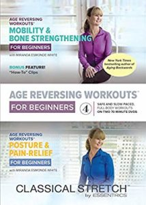 These DVDs uses the Esmonde Techique to improve posture and mobility, relieve pain, and strengthen bones