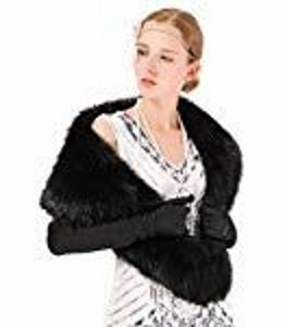 You can drape this faux fur collar over a dress and make it more elegant